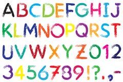 fuente Alfabeto #4 Imagen de archivo libre de regalías