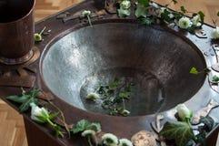 Fuente bautismal Fotografía de archivo libre de regalías