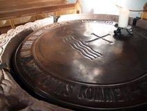 Fuente bautismal Imagen de archivo libre de regalías