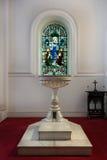 Fuente bautismal en la catedral de St Mark en Bangalore. imágenes de archivo libres de regalías