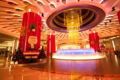 Fuente brillante en el casino de Macao de la galaxia Fotos de archivo libres de regalías