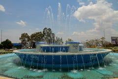 Fuente céntrica del círculo de tráfico de Kigali Imagen de archivo libre de regalías