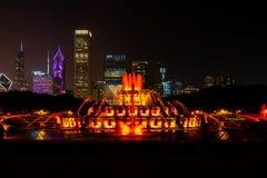 Fuente Chicago de Buckingham imágenes de archivo libres de regalías