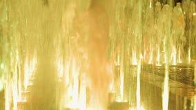 Fuente colorida hermosa en la noche metrajes