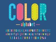 Fuente colorida stock de ilustración