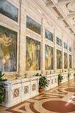 Fuente con el agua de Rinfresco en el balneario de Tettuccio Terme en Montecatini Terme, Italia Imagen de archivo libre de regalías