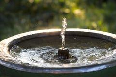 Fuente con el agua potable Imagen de archivo libre de regalías
