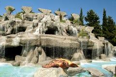 Fuente con la tortuga Imágenes de archivo libres de regalías