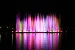 Fuente de agua colorida Imagen de archivo