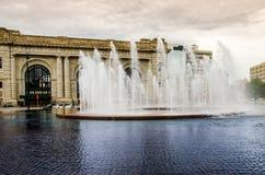 Fuente de agua de Kansas City imagen de archivo libre de regalías