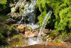 Fuente de agua de manatial Foto de archivo libre de regalías