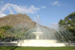 Fuente de agua de Waikiki imagenes de archivo