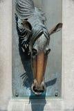 Fuente de agua del caballo Foto de archivo libre de regalías