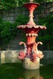Fuente de agua en el jardín floral en Macao Imágenes de archivo libres de regalías