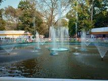 Fuente de agua de Indain en el jardín o los parques imagen de archivo
