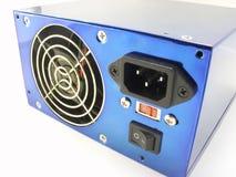 Fuente de alimentación azul Imagenes de archivo