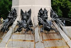 Fuente de angel caido in Madrid. Or the monument of the fallen angel stock photo