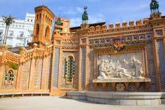 Fuente de Aragón Teruel Amantes en el La Escalinata España Foto de archivo