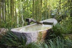 Fuente de bambú en Japón Foto de archivo libre de regalías