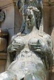 Fuente de bronce de Neptuno de Bolonia (Italia) Fotos de archivo
