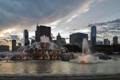 Fuente de Buckingham en Chicago imágenes de archivo libres de regalías
