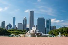 Fuente de Buckingham en el parque de Grant, Chicago, los E Fotografía de archivo libre de regalías