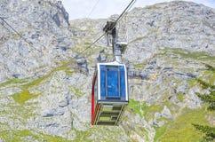 Fuente De cable car. Cable car in Fuente De, Cantabria, Spain royalty free stock photos