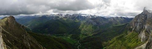 Fuente De, Cantabria. Panoramic view. Royalty Free Stock Photos