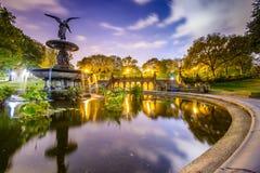 Fuente de Central Park foto de archivo libre de regalías