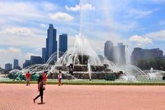 Fuente de Chicago Buckingham foto de archivo
