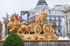 Fuente de Cibeles en Madrid, España Foto de archivo libre de regalías