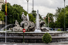 Fuente de Cibeles, Image of the city of Madrid, its characterist Royalty Free Stock Images