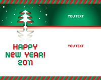 Fuente de cinta de papel de la Feliz Año Nuevo Fotos de archivo