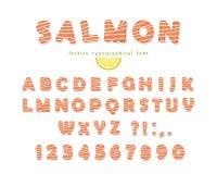 Fuente de color salmón aislada en blanco Fotografía de archivo libre de regalías