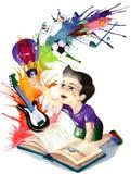 Fuente de conocimiento libre illustration