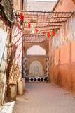Fuente de consumición ornamental en Medina de Marrakesh marruecos Imagen de archivo libre de regalías