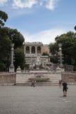 Fuente de Dea di Roma en Roma, Italia Imágenes de archivo libres de regalías