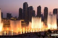 Fuente de Dubai Imagen de archivo libre de regalías