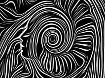 Fuente de líneas internas stock de ilustración