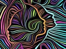 Fuente de líneas internas ilustración del vector