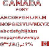 Fuente de la bandera de Canadá Fotos de archivo libres de regalías