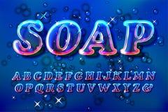 Fuente de la burbuja del jabón o del vidrio del color libre illustration