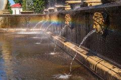 Fuente de la cascada del león Fotos de archivo libres de regalías