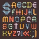 Fuente de la cinta escocesa coloreada - alfabeto romano Foto de archivo libre de regalías