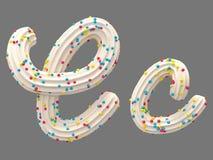 Fuente de la crema y del caramelo libre illustration