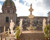 Fuente de la diosa Diana, Palermo Imagenes de archivo