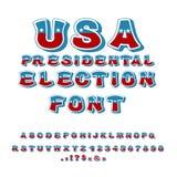 Fuente de la elección presidencial de los E.E.U.U. Discusión político en la alfa de América Imagenes de archivo