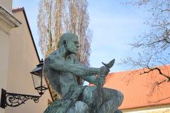 Fuente de la escultura de Zagreb fotografía de archivo