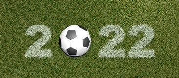 Fuente de la hierba con la representación de ball-3D stock de ilustración