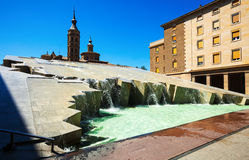 Fuente de la Hispanidad in Zaragoza.  Aragon Stock Images